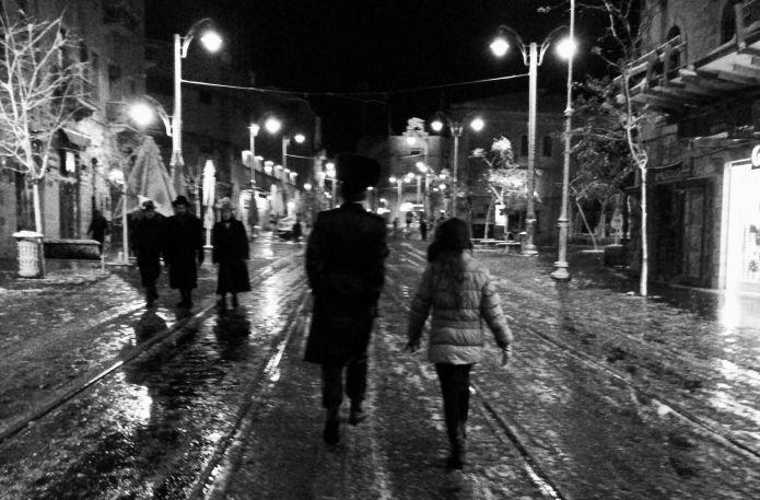 רחוב יפו ברגע נדיר של שקט